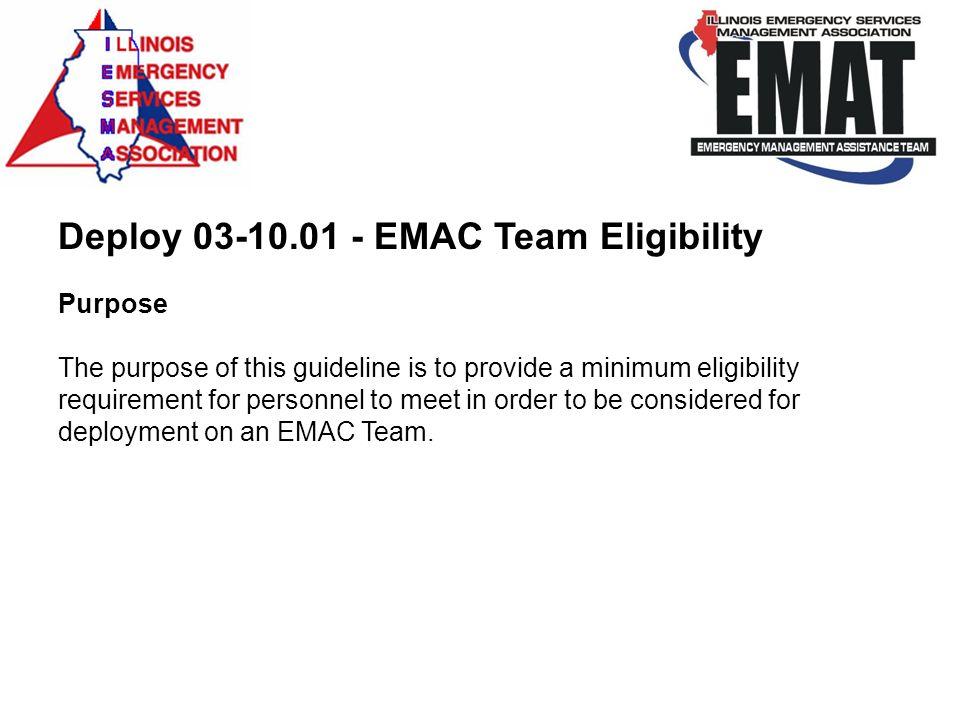Deploy 03-10.01 - EMAC Team Eligibility