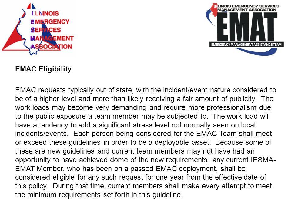 EMAC Eligibility
