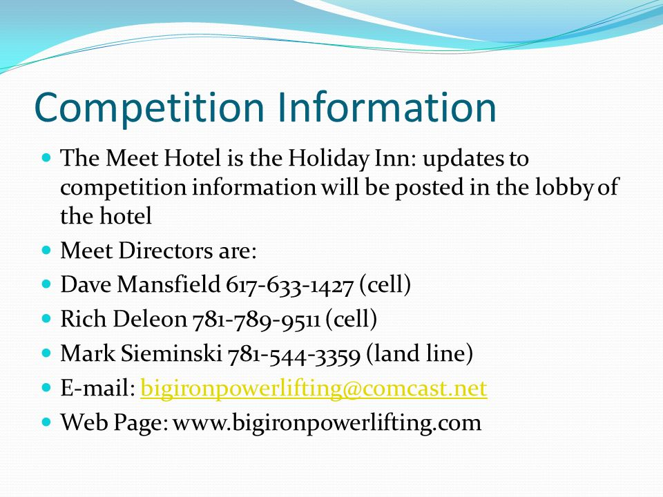 Competition Information