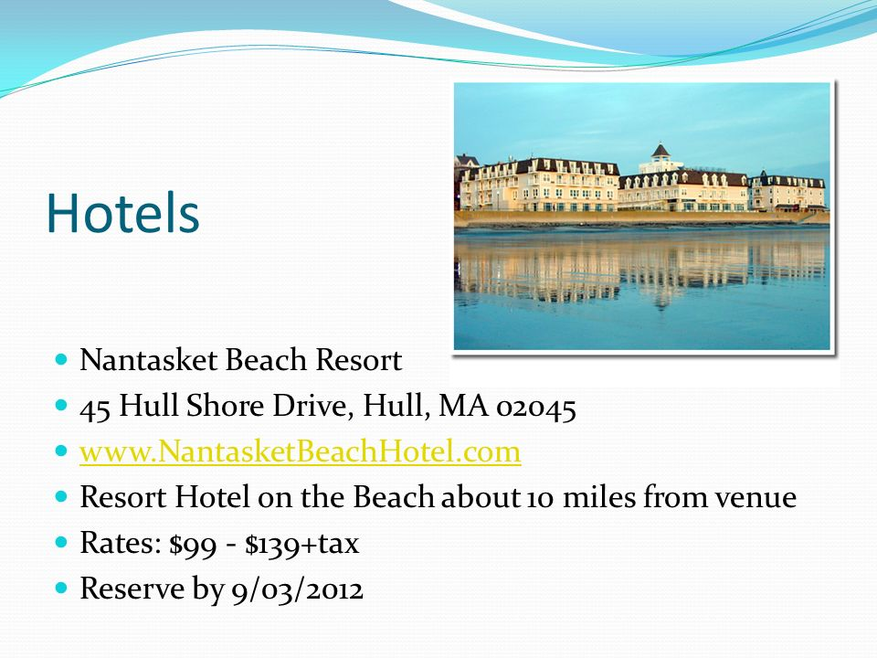 Hotels Nantasket Beach Resort 45 Hull Shore Drive, Hull, MA 02045