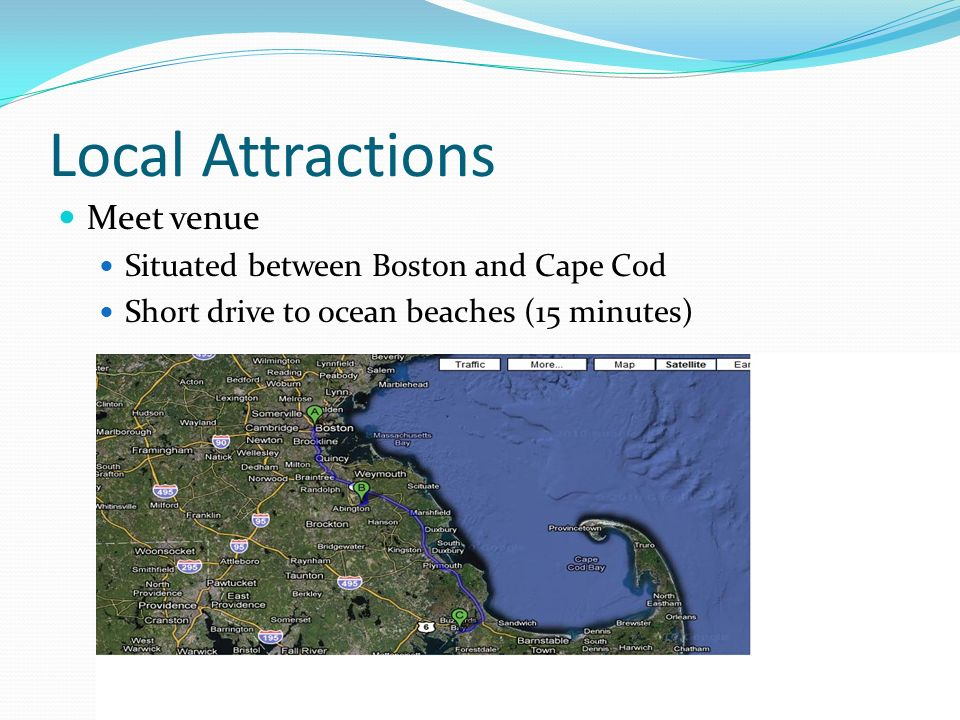 Local Attractions Meet venue Situated between Boston and Cape Cod
