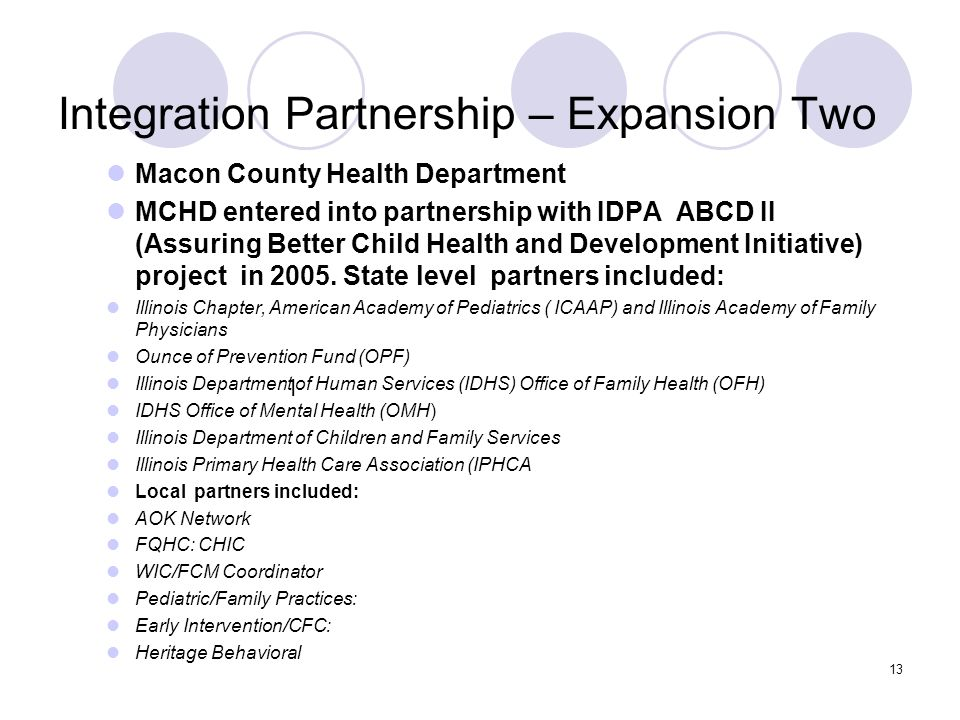 Integration Partnership – Expansion Two