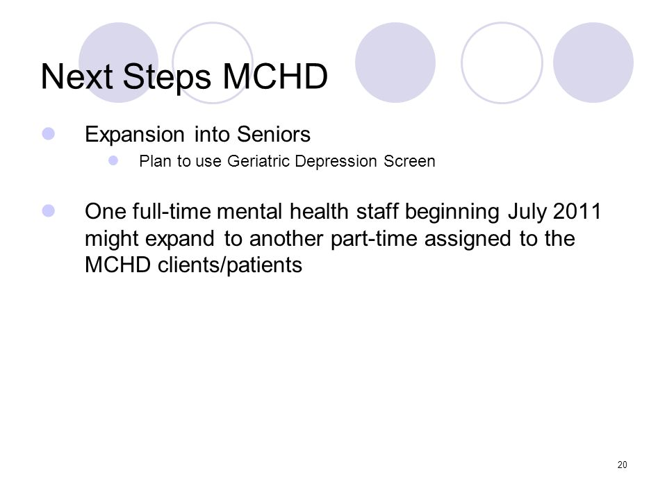 Next Steps MCHD Expansion into Seniors