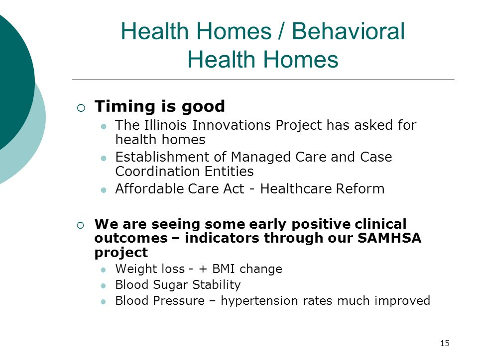 Health Homes / Behavioral Health Homes