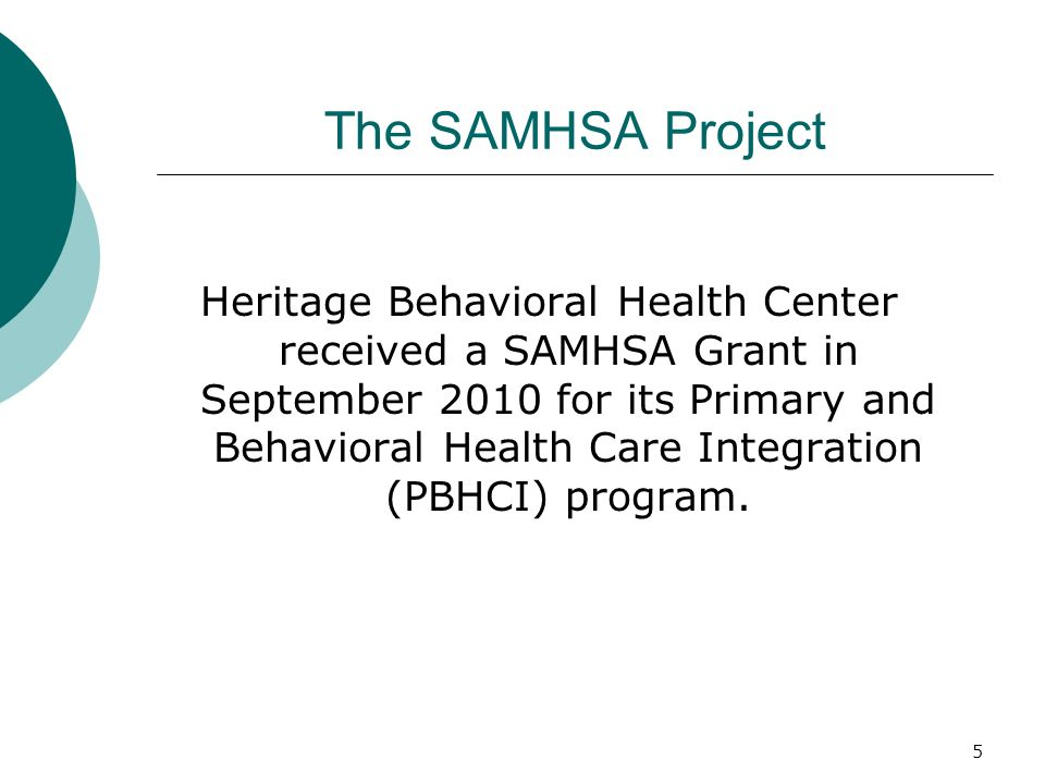 The SAMHSA Project