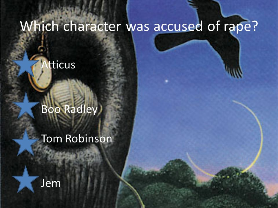 "an analysis of the characters of boo radley and tom robinson in to kill a mockingbird by harper lee Cans in the backyard, but i know you'll go after birds shoot all the bluejays you want, if you can hit'em, but remember it's a sin to kill a mockingbird"" (pg 69) the mockingbird is a symbol for two of the characters in the novel: tom robinson and boo radley the mockingbird symbolizes these two characters because it does."