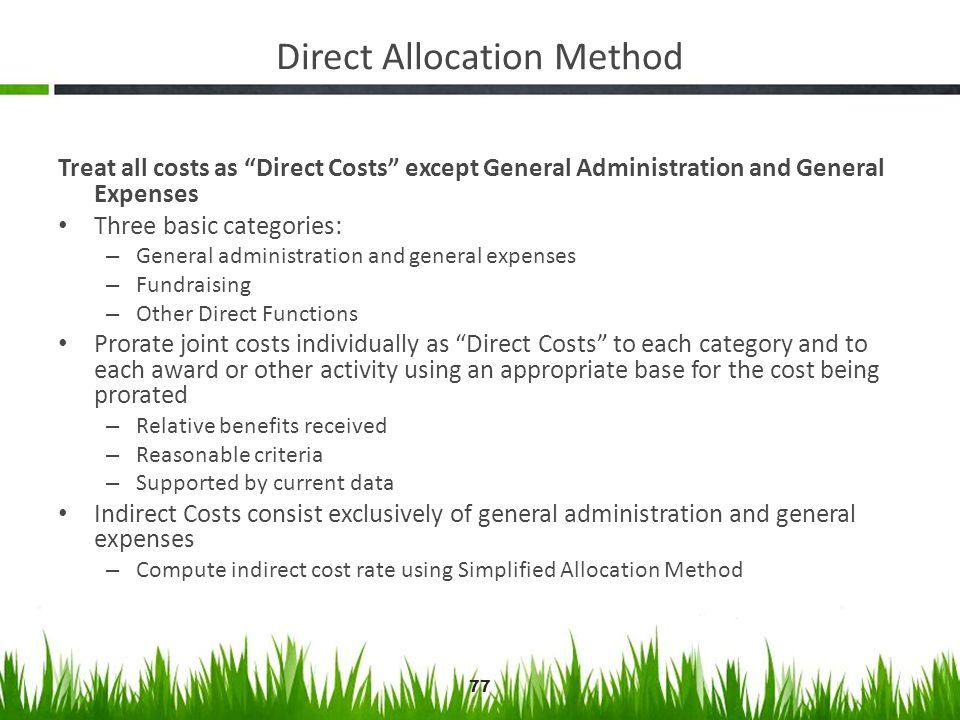 Direct Allocation Method