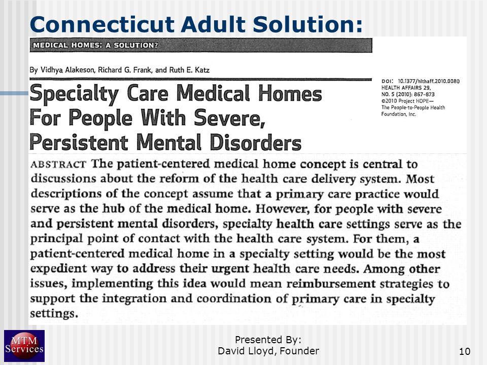 Connecticut Adult Solution: