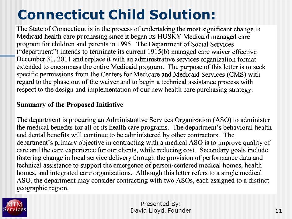 Connecticut Child Solution: