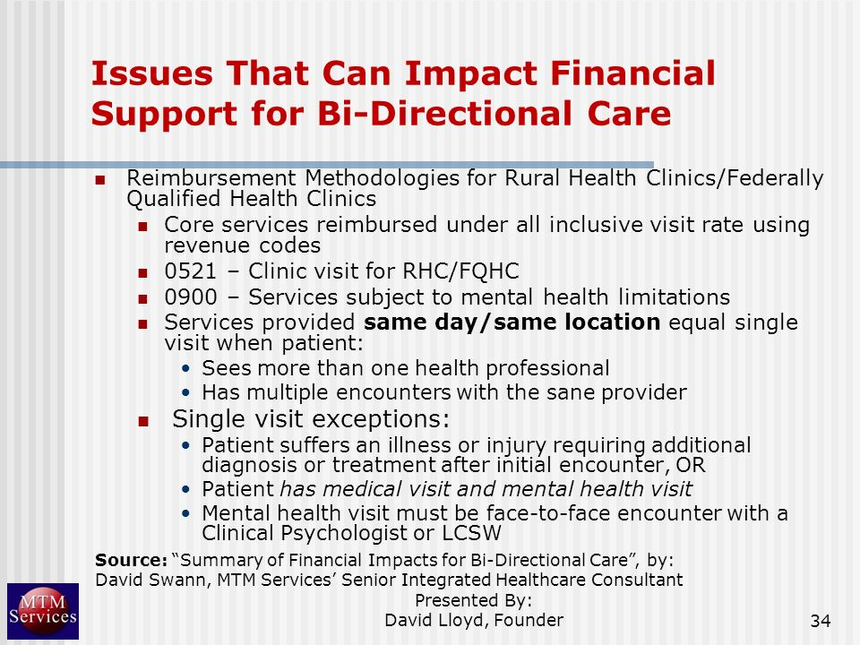Issues That Can Impact Financial Support for Bi-Directional Care
