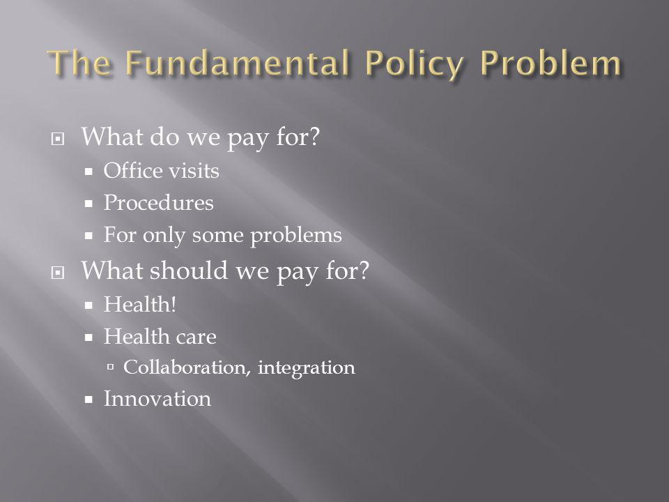 The Fundamental Policy Problem