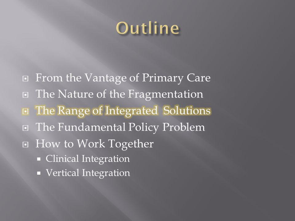 Outline From the Vantage of Primary Care