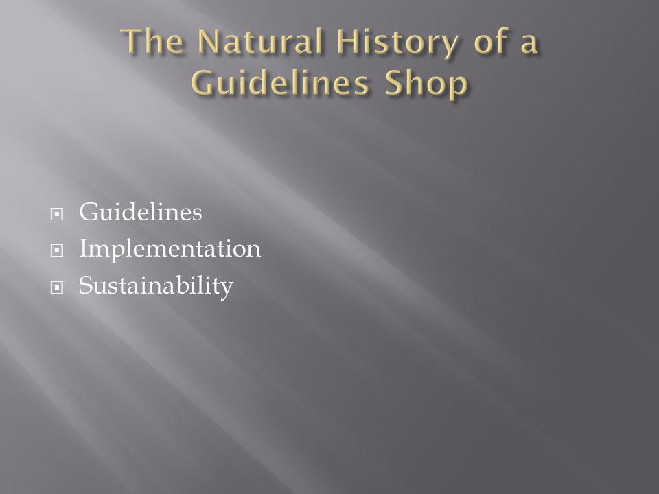The Natural History of a Guidelines Shop