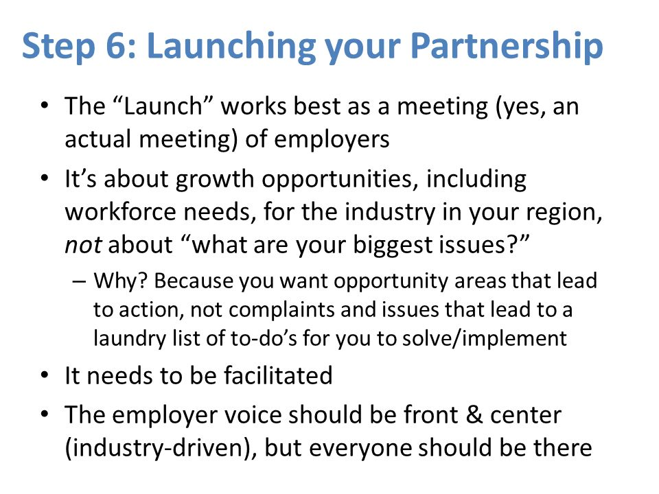 Step 6: Launching your Partnership
