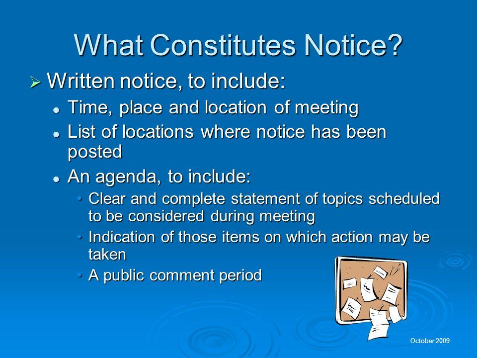 What Constitutes Notice