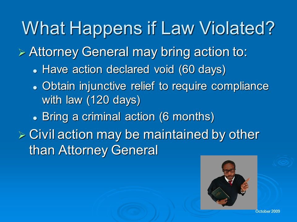 What Happens if Law Violated