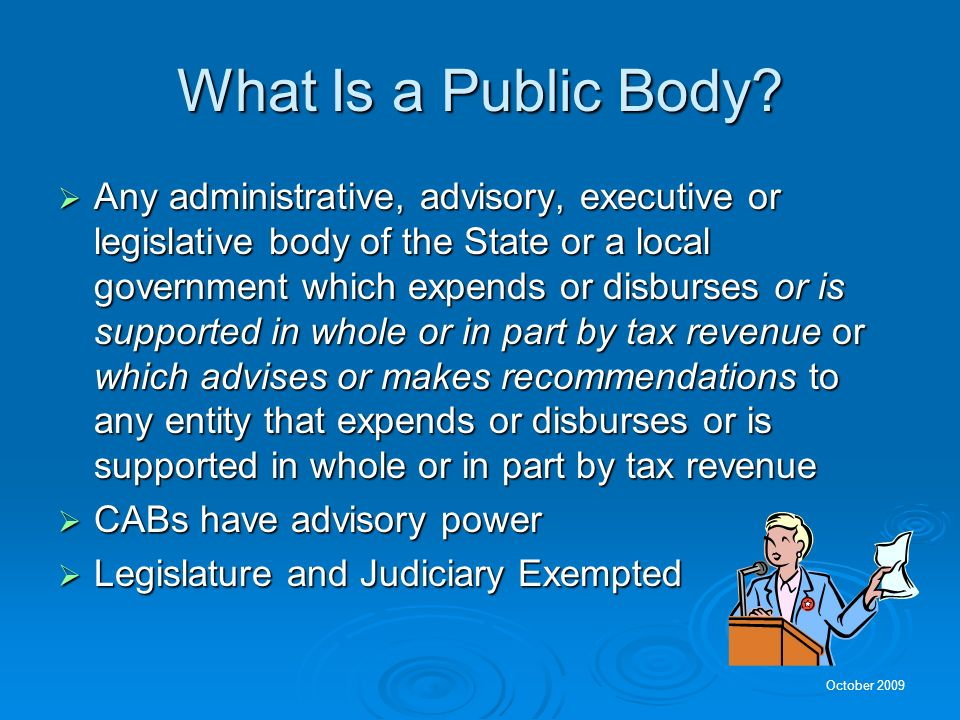 What Is a Public Body