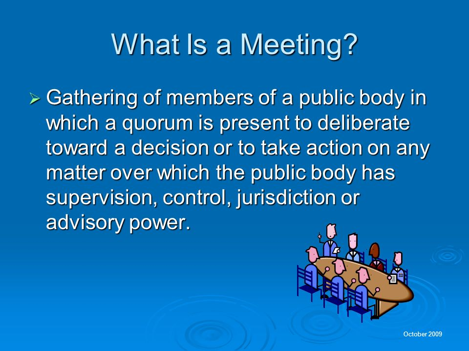 What Is a Meeting