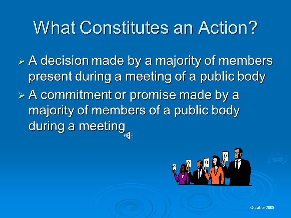 What Constitutes an Action