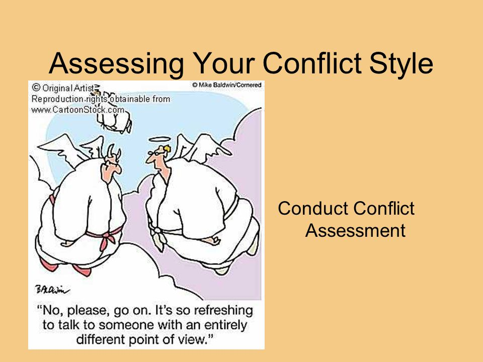 Assessing Your Conflict Style