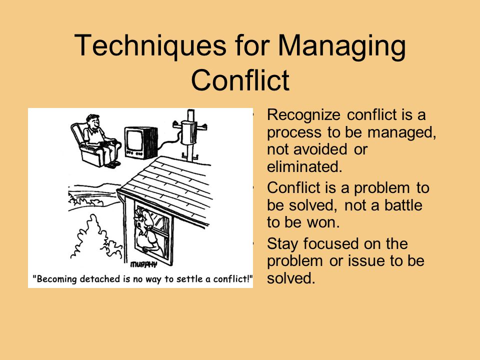 Techniques for Managing Conflict