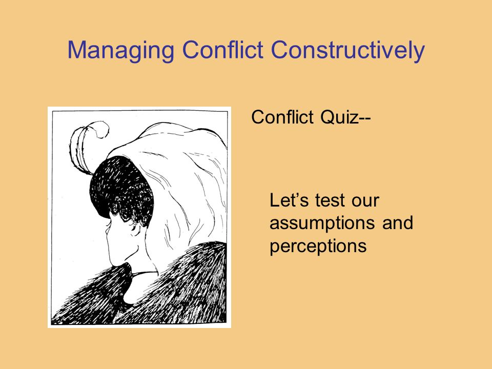 Managing Conflict Constructively