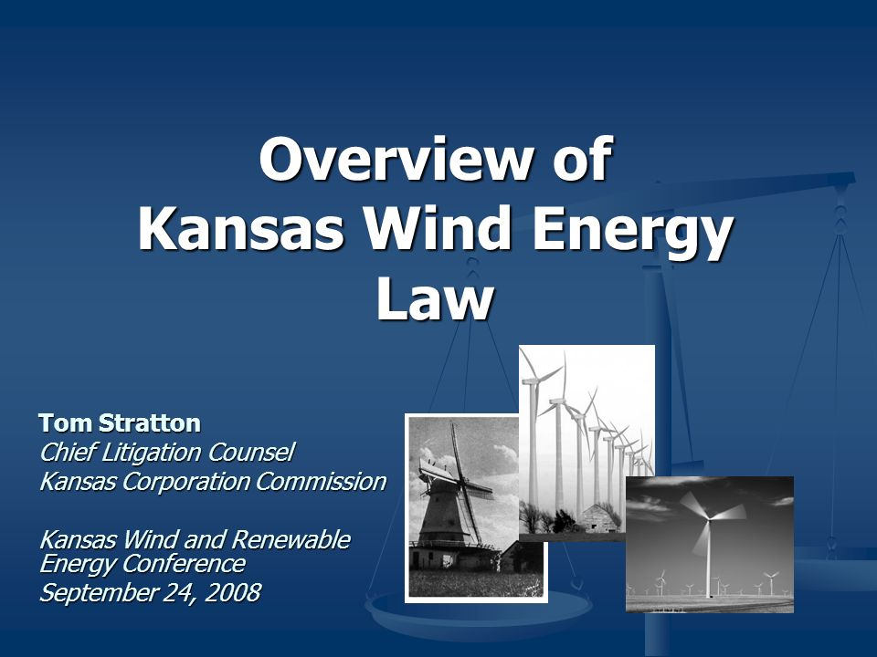 Overview of Kansas Wind Energy Law