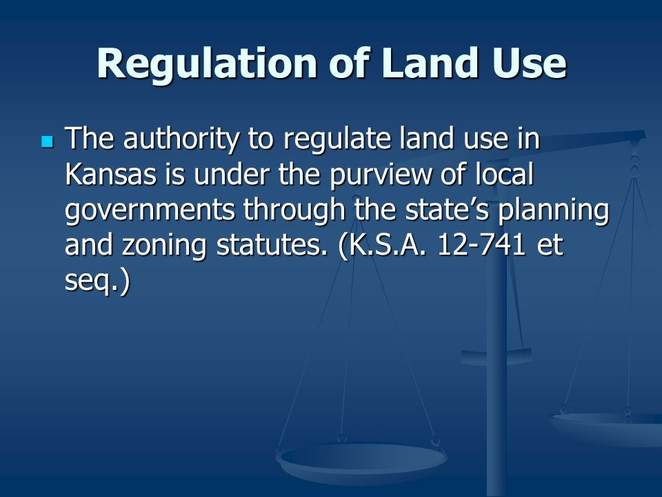 Regulation of Land Use