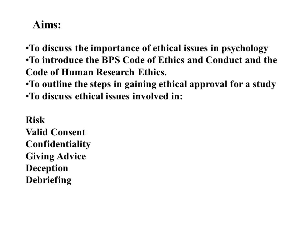 """ethical code of conduct in psychological research Psychologists and code of conduct"""" (hereinafter referred to as the ethics code)   in such cases, the ethics code has the force of law and can be used by the  licensing  professional psychology: research and practice copyright 2003 by ."""