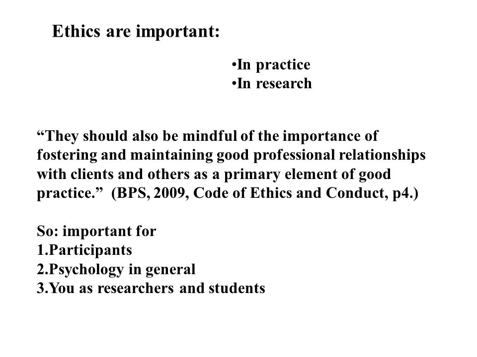 why are ethics important A code of ethics is important for businesses to establish to ensure that everyone in the company is clear on the mission, values and guiding principles of the company it provides employees with a.