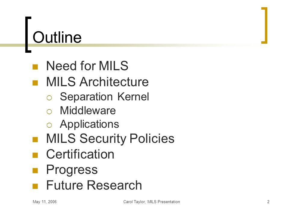 Carol Taylor, MILS Presentation
