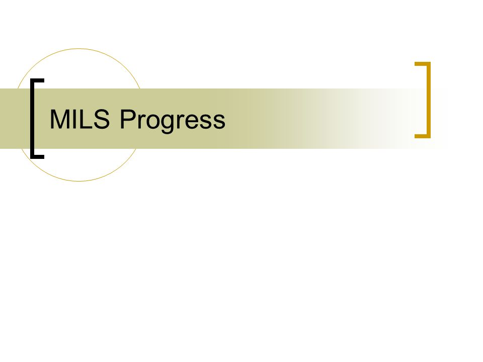 MILS Progress