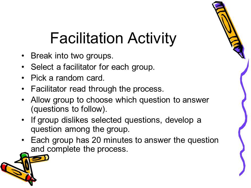 Facilitation Activity