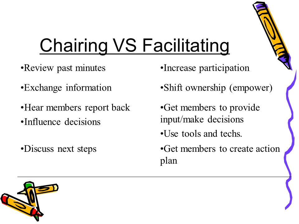 Chairing VS Facilitating
