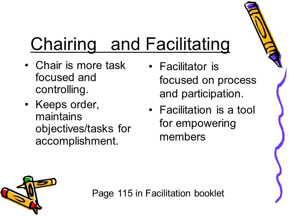 Chairing and Facilitating