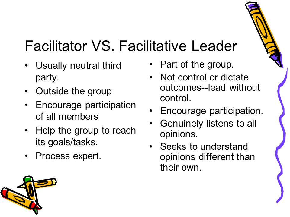 Facilitator VS. Facilitative Leader