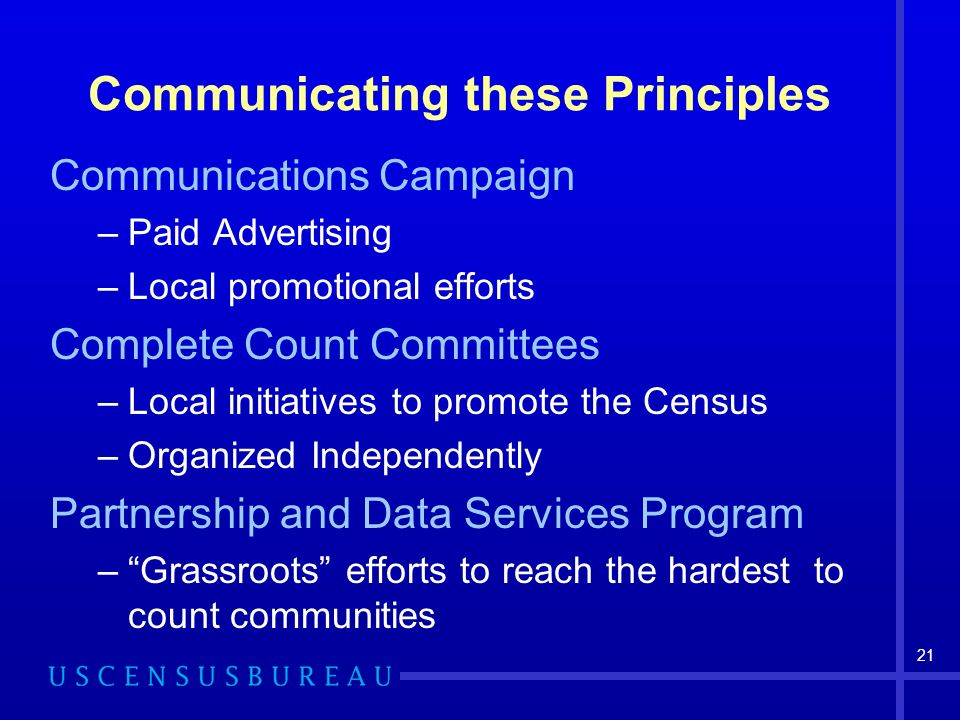 Communicating these Principles