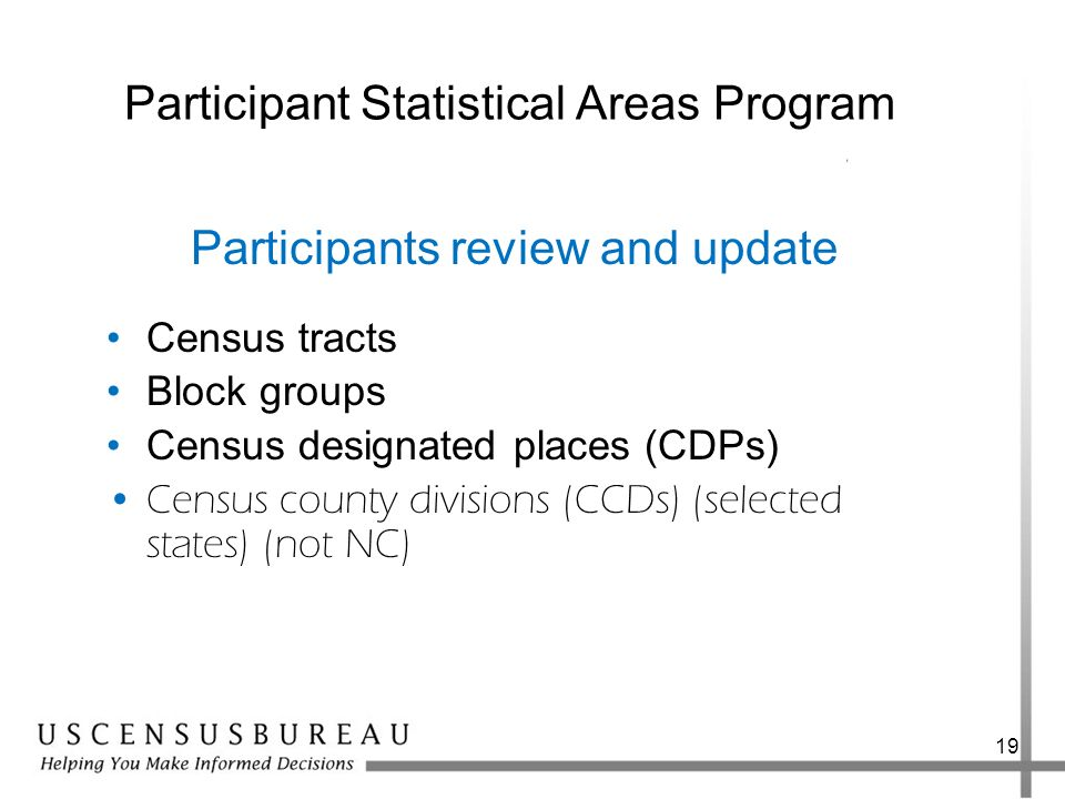 Participant Statistical Areas Program