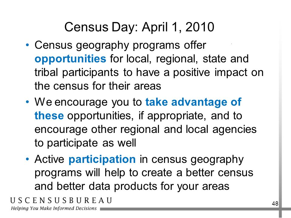 Census Day: April 1, 2010