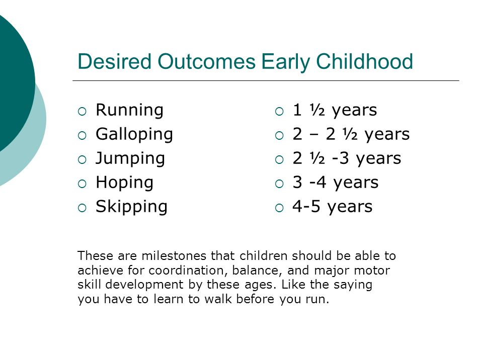 Desired Outcomes Early Childhood