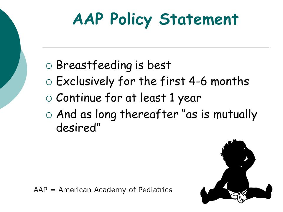 AAP Policy Statement Breastfeeding is best
