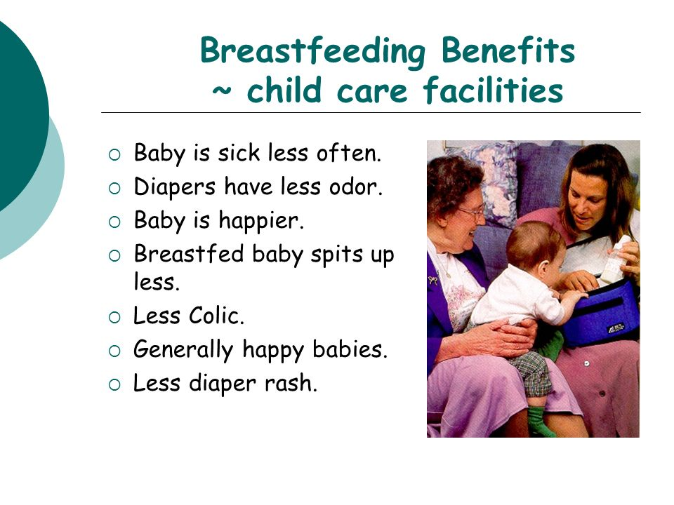 Breastfeeding Benefits ~ child care facilities