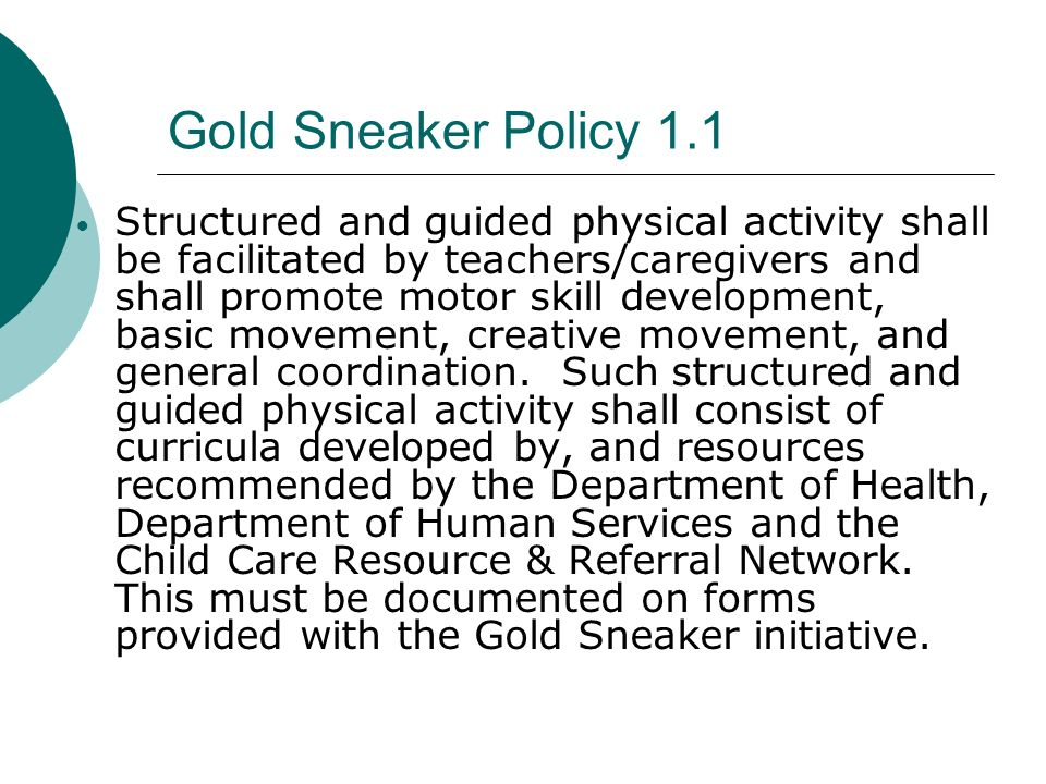 Gold Sneaker Policy 1.1
