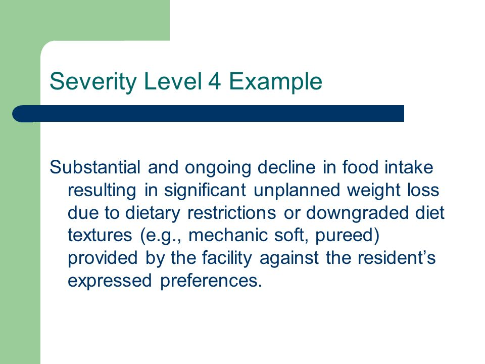 Severity Level 4 Example
