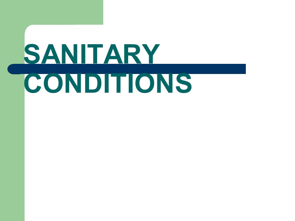 SANITARY CONDITIONS