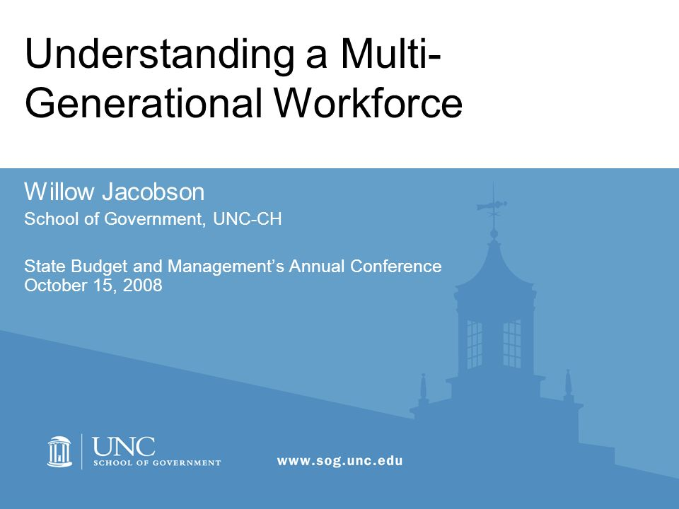 Understanding a Multi-Generational Workforce