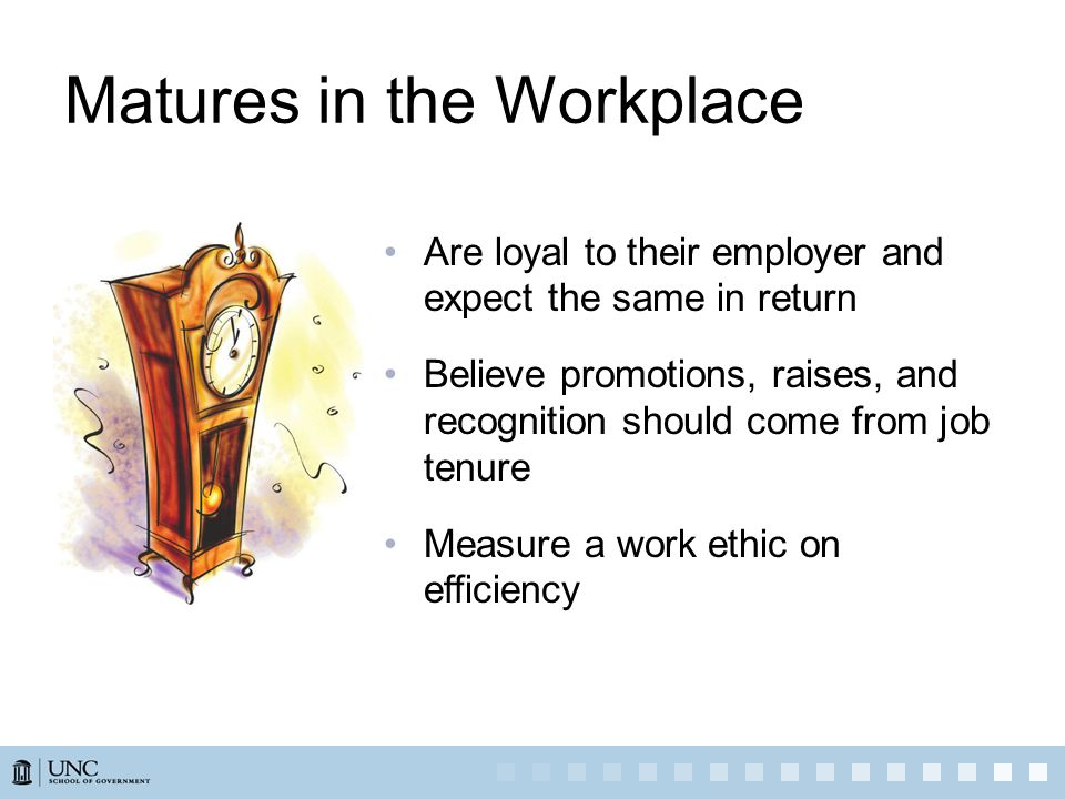 Matures in the Workplace