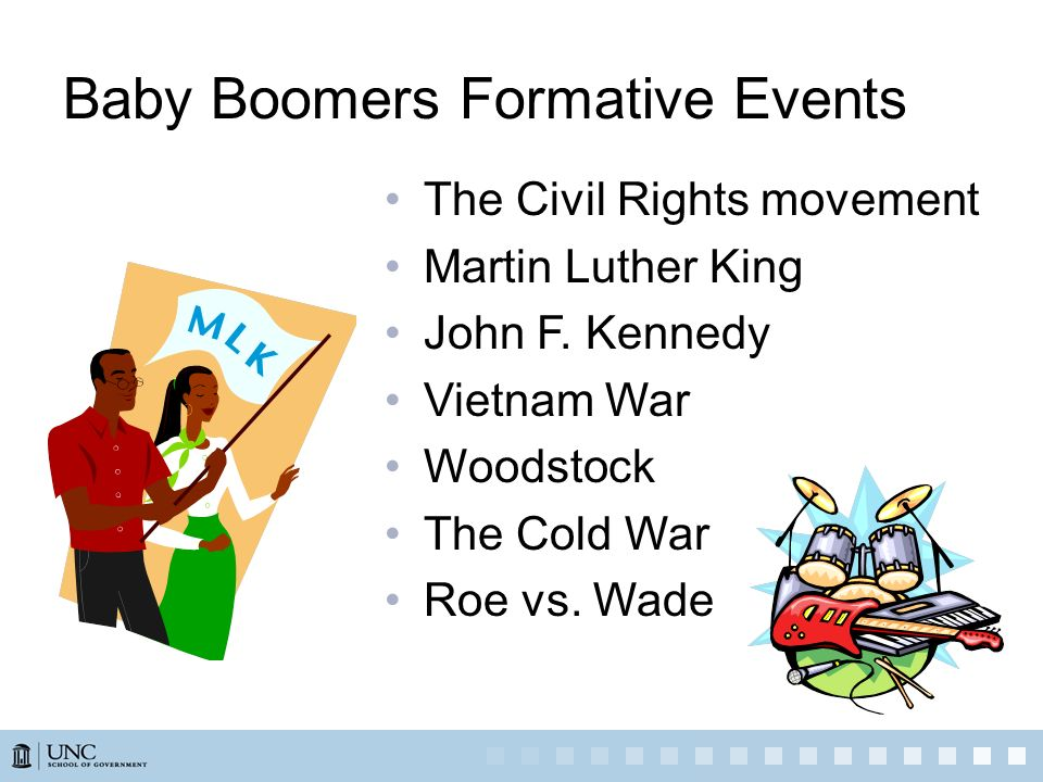 Baby Boomers Formative Events