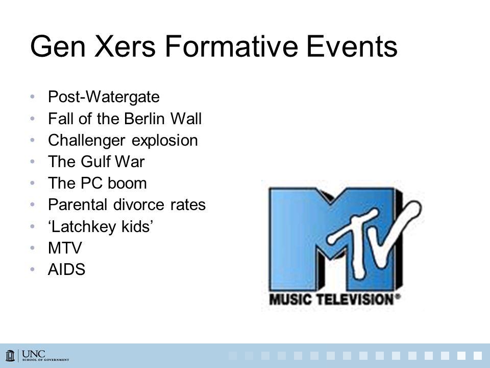 Gen Xers Formative Events