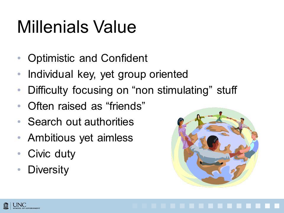 Millenials Value Optimistic and Confident